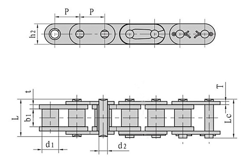 Roller chains with straight side plate ( B series ) 1