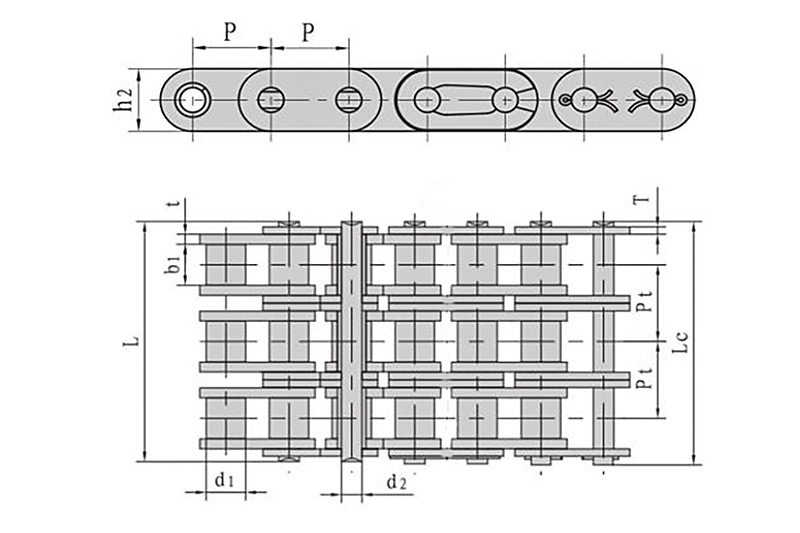 Roller chains with straight side plate ( B series ) 3