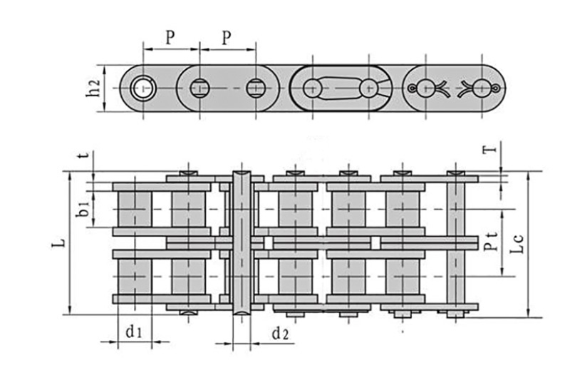 Roller chains with straight side plate ( A series ) 3