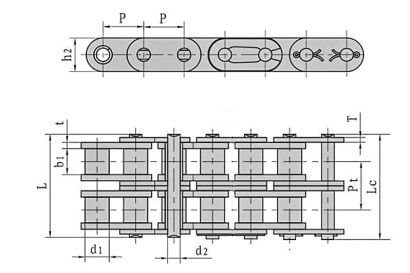 Roller chains with straight side plate ( A series ) 2