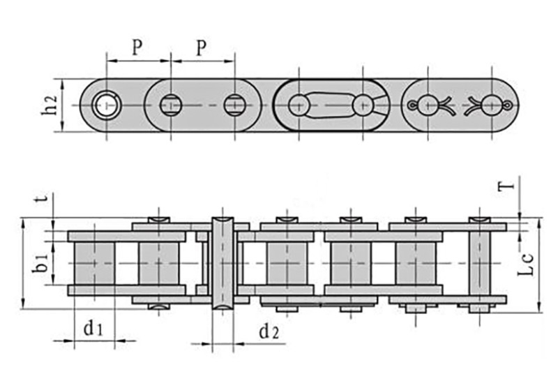 Roller chains with straight side plate ( A series ) 1